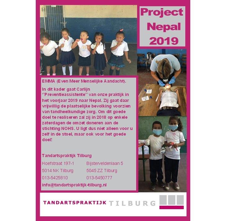 sponsoring project Nepal Tandartspraktijk Tilburg